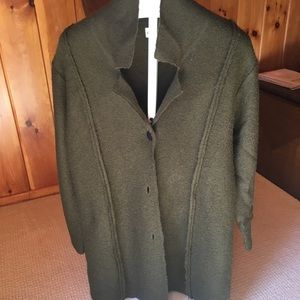 Chico's boiled wool long sweater coat,3